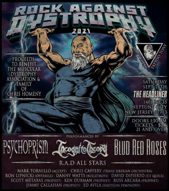 ROCK AGAINST DYSTROPHY Is Back To Rock Out And Honor A Family Member!